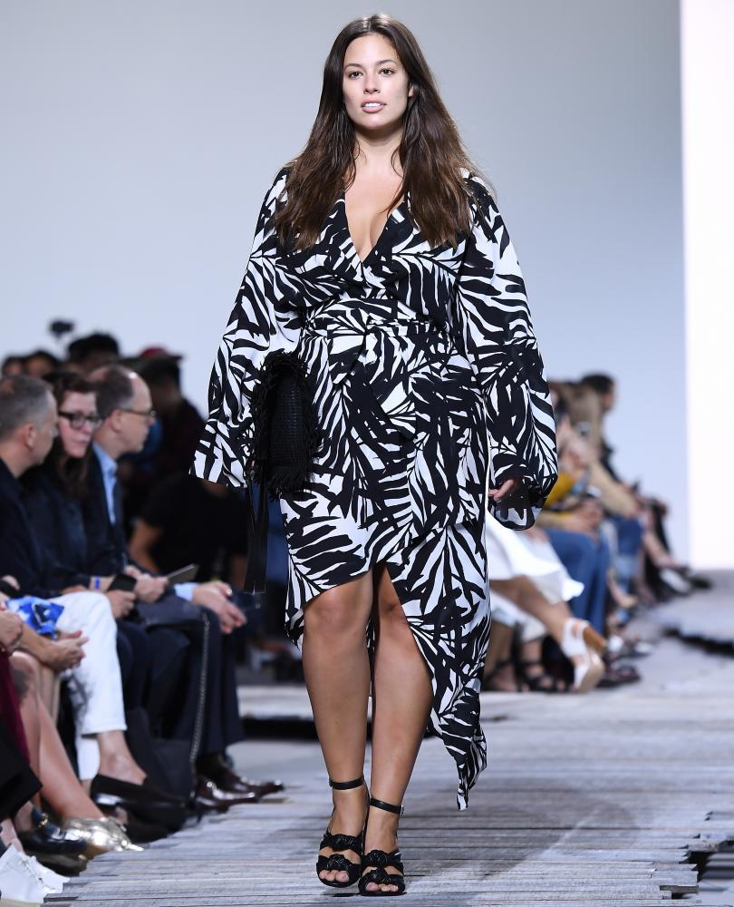 Plus-size model Ashley Graham, an activist for body positivity.