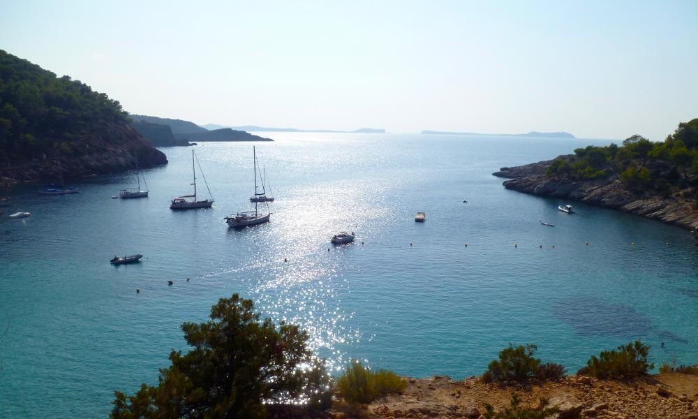 Cliff-top sea-view at Adventure Yogi, Ibiza.