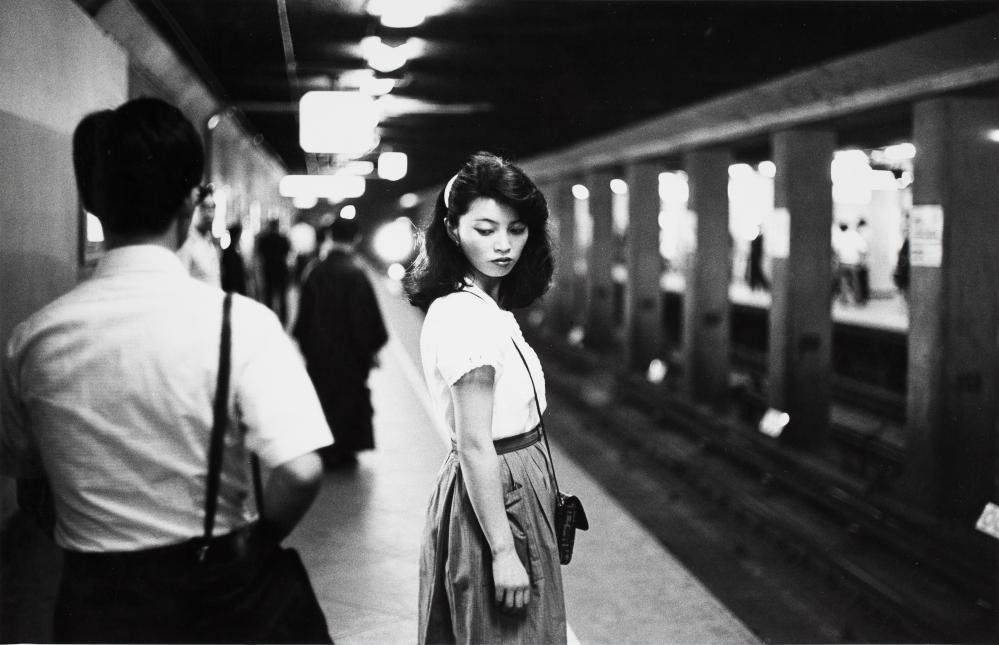 'Relentless curiosity' … Girl in Metro, Tokyo, 1981.