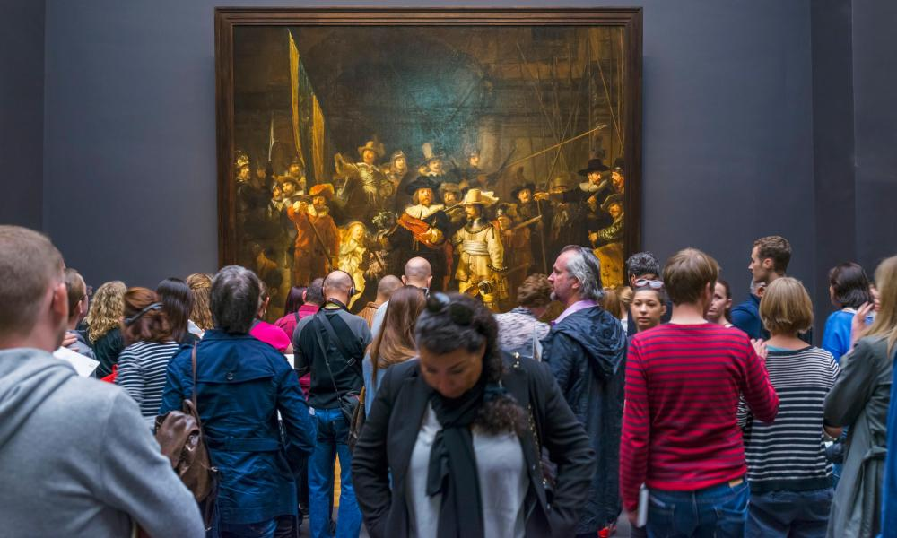 Now available online ... crowds in front of The Night Watch by Rembrandt van Rijn, Rijksmuseum, Amsterdam.