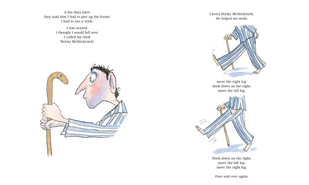 Pages, with drawings by Tony Ross, from Rosen's new book