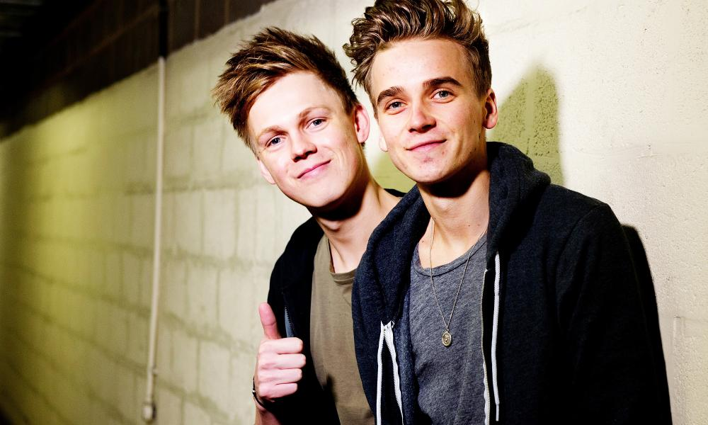 Caspar Lee (left) and Joe Sugg.