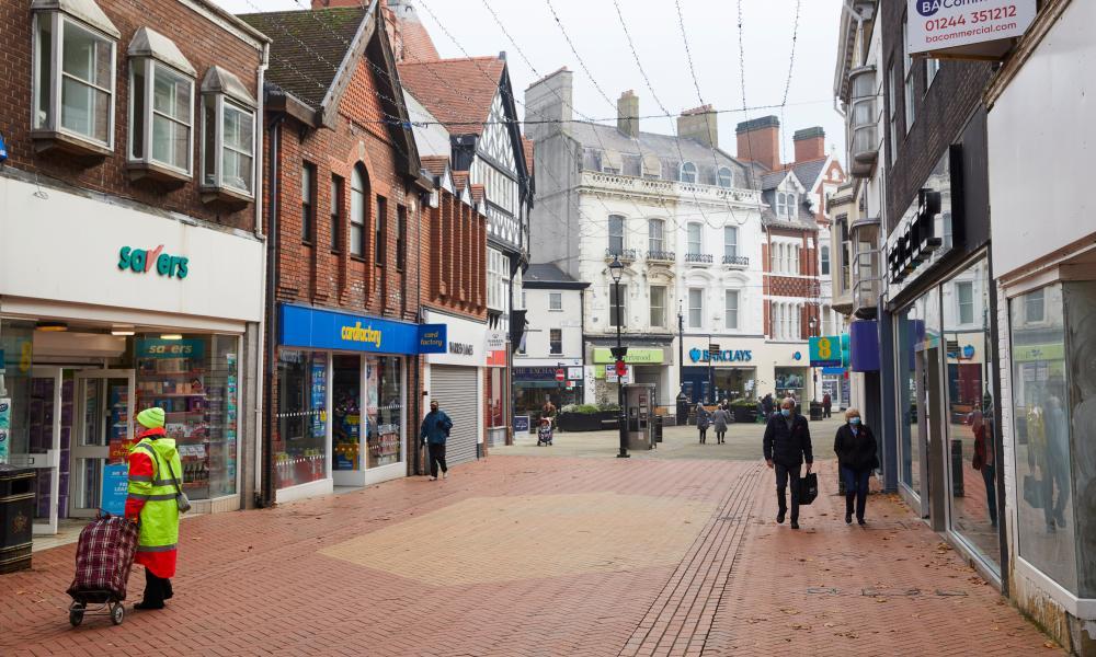 Wrexham town centre.