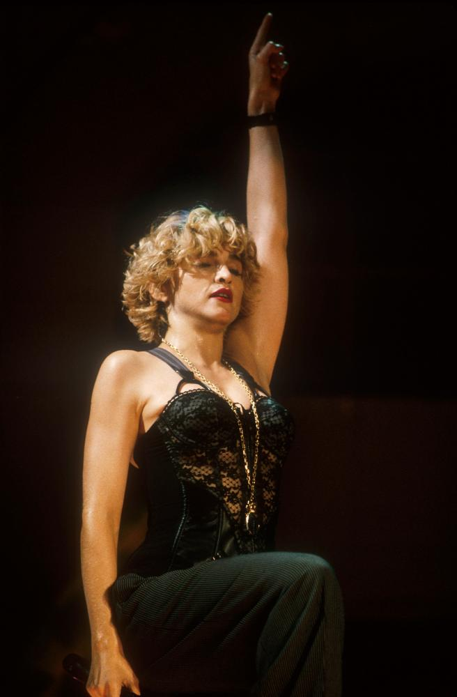 Madonna at the MTV video music awards in LA, 1989.