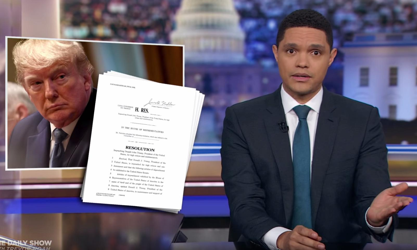 Trevor Noah: 'Trump will have the smallest impeachment of all time'