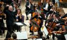 SIr Mark Elder conducting the Halle orchestra  Press image from madeleine@vbpr.co.uk
