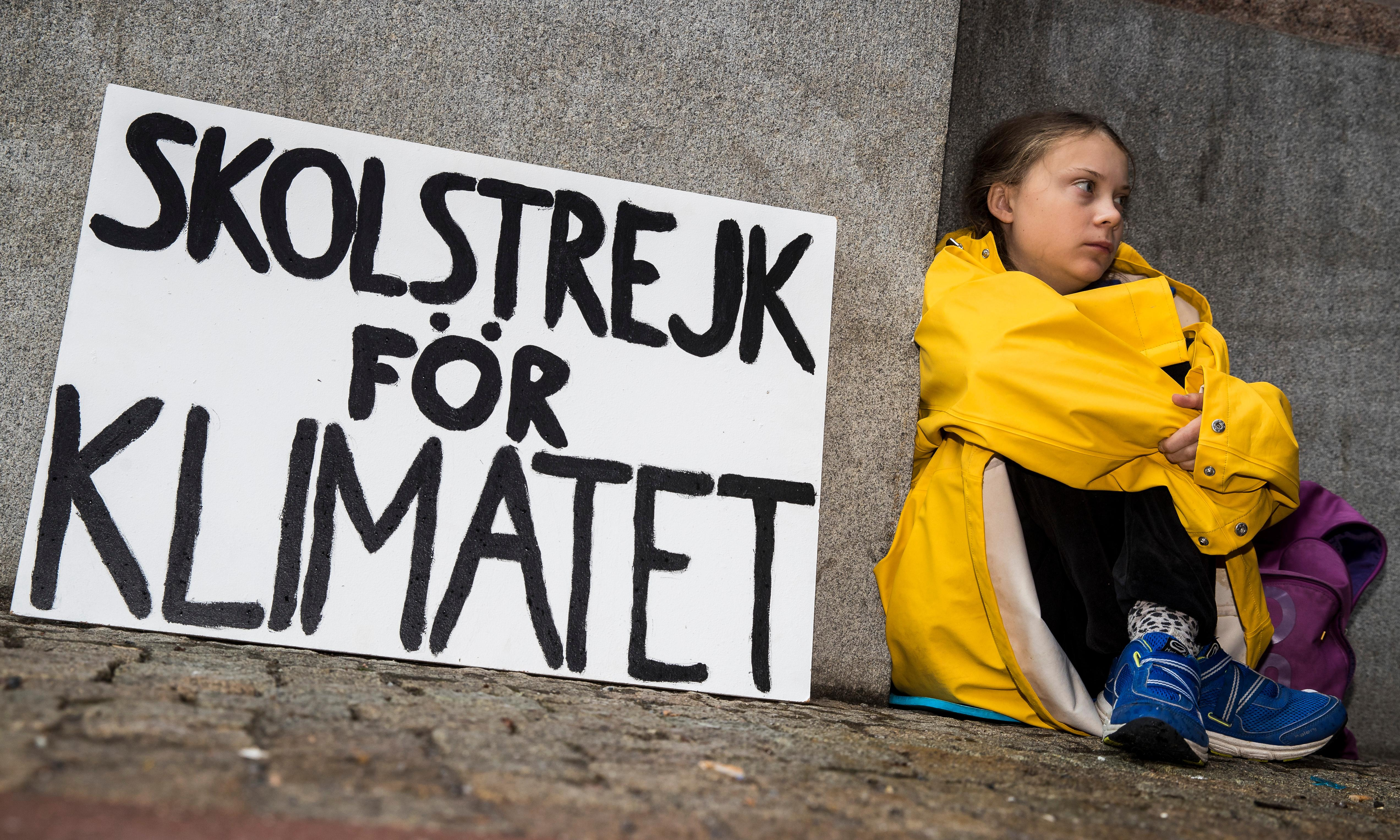 The Swedish 15-year-old who's cutting class to fight the climate crisis