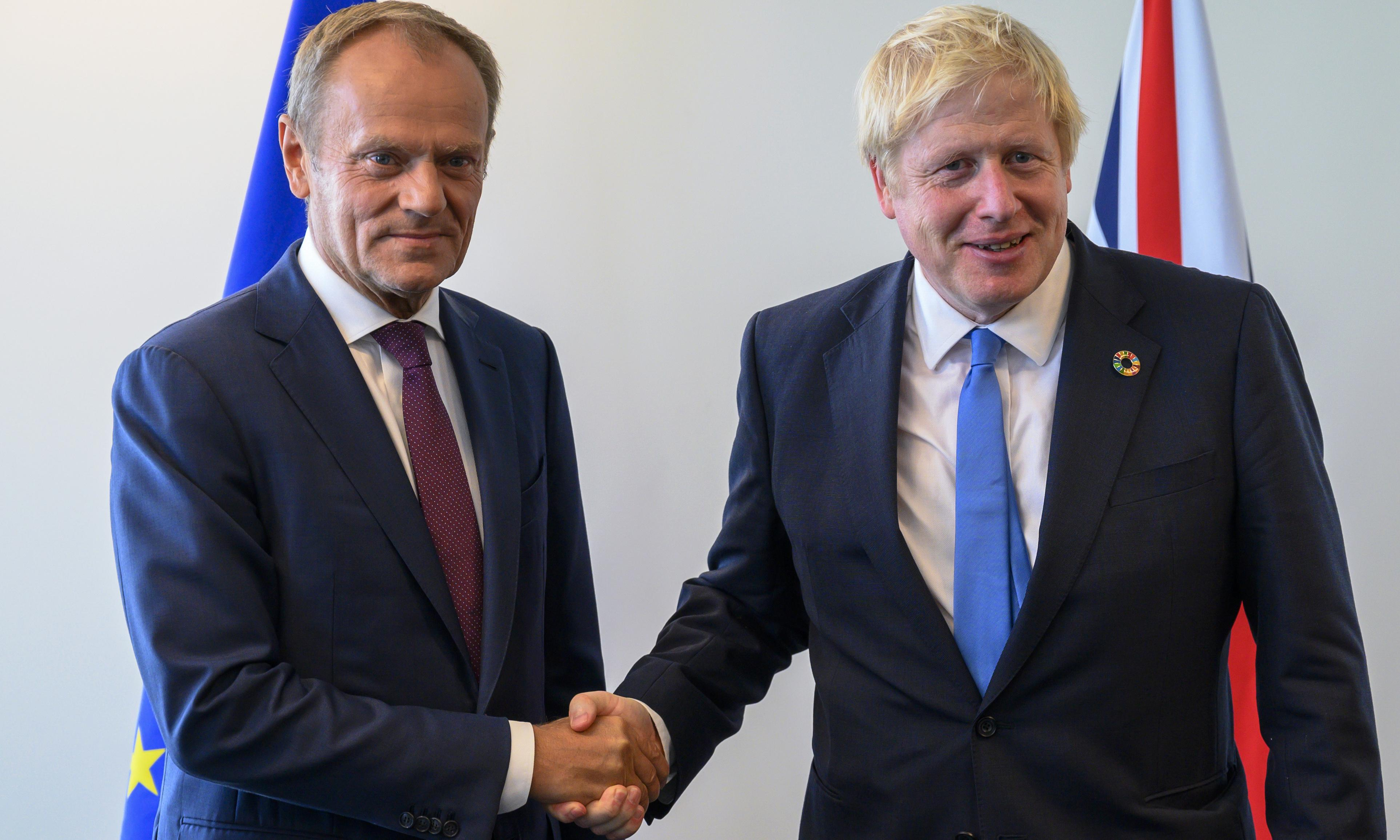 Johnson seeks DUP backing in race against time over Brexit deal