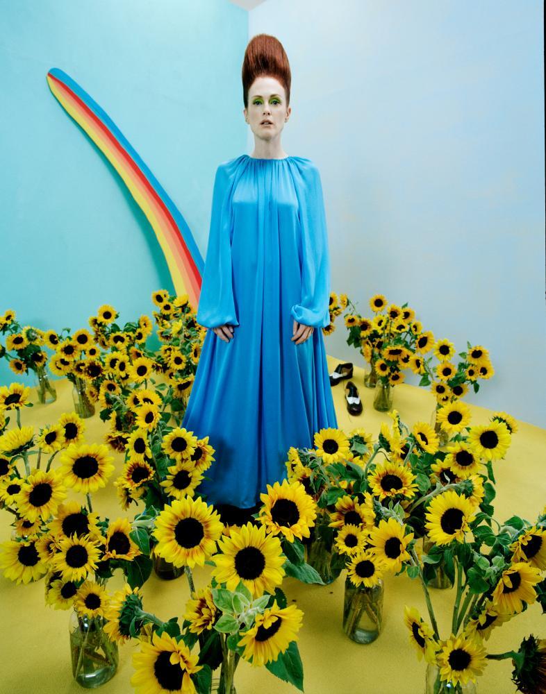 Julianne Moore wearing Emanuel Ungaro photographed by Tim Walker.