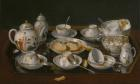 Jean-Etienne Liotard, Still-life: Tea Set, c. 1770–83. Oil on canvas mounted on board, 37.5 x 51.4 cm