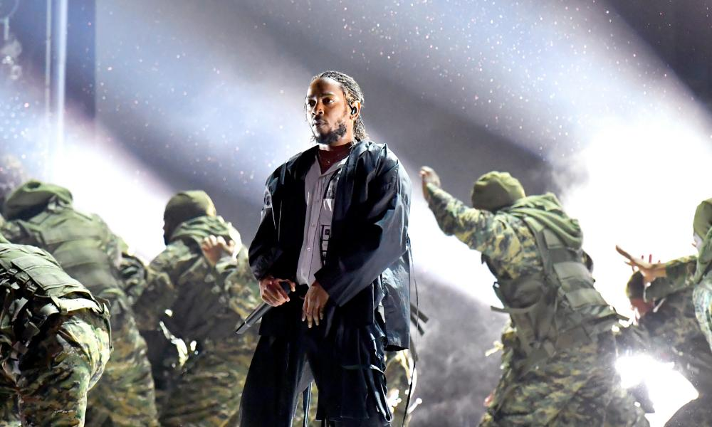 Kendrick Lamar at the Grammys in January.