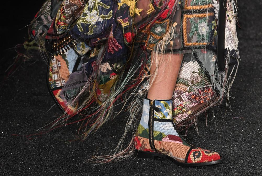 Another shoe in the Alexander McQueen show.