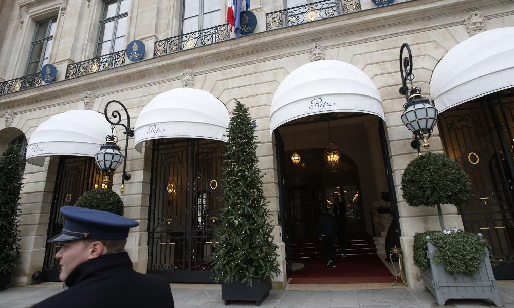A valet outside the Ritz in Paris