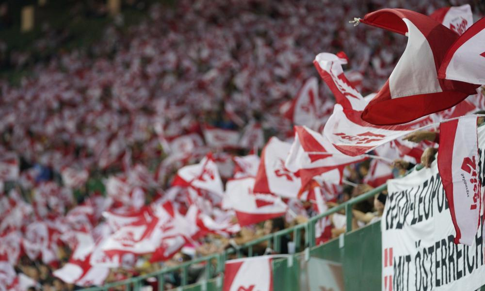 Austria fans are out in force in Vienna.