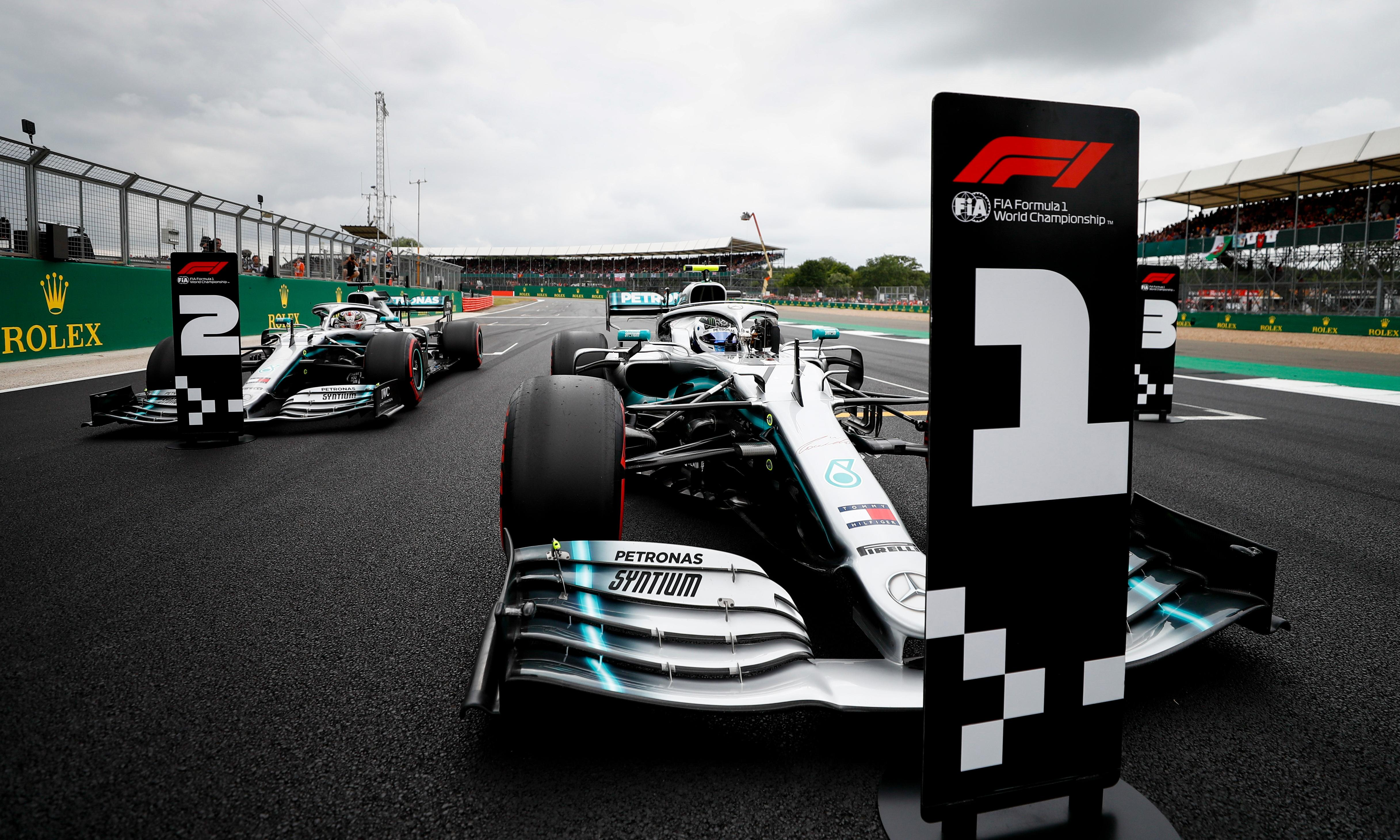 Valtteri Bottas edges out Lewis Hamilton for British F1 GP pole
