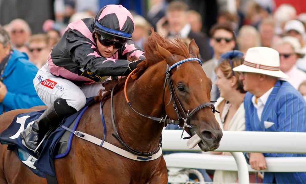 Hollie Doyle, pictured racing at Goodwood, is set for her first outing in the St Leger.