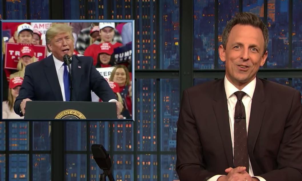 Seth Meyers on Trump-Parnas photos: 'A mall Santa for wannabe Goodfellas'