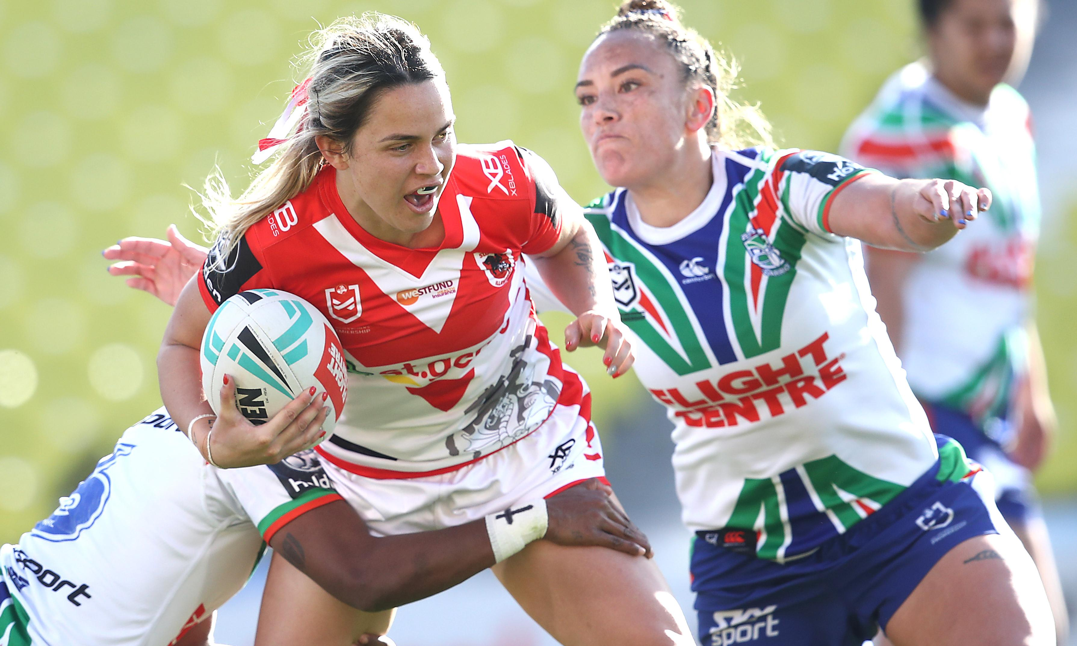 Dragons fight back to beat Warriors in historic NRLW clash