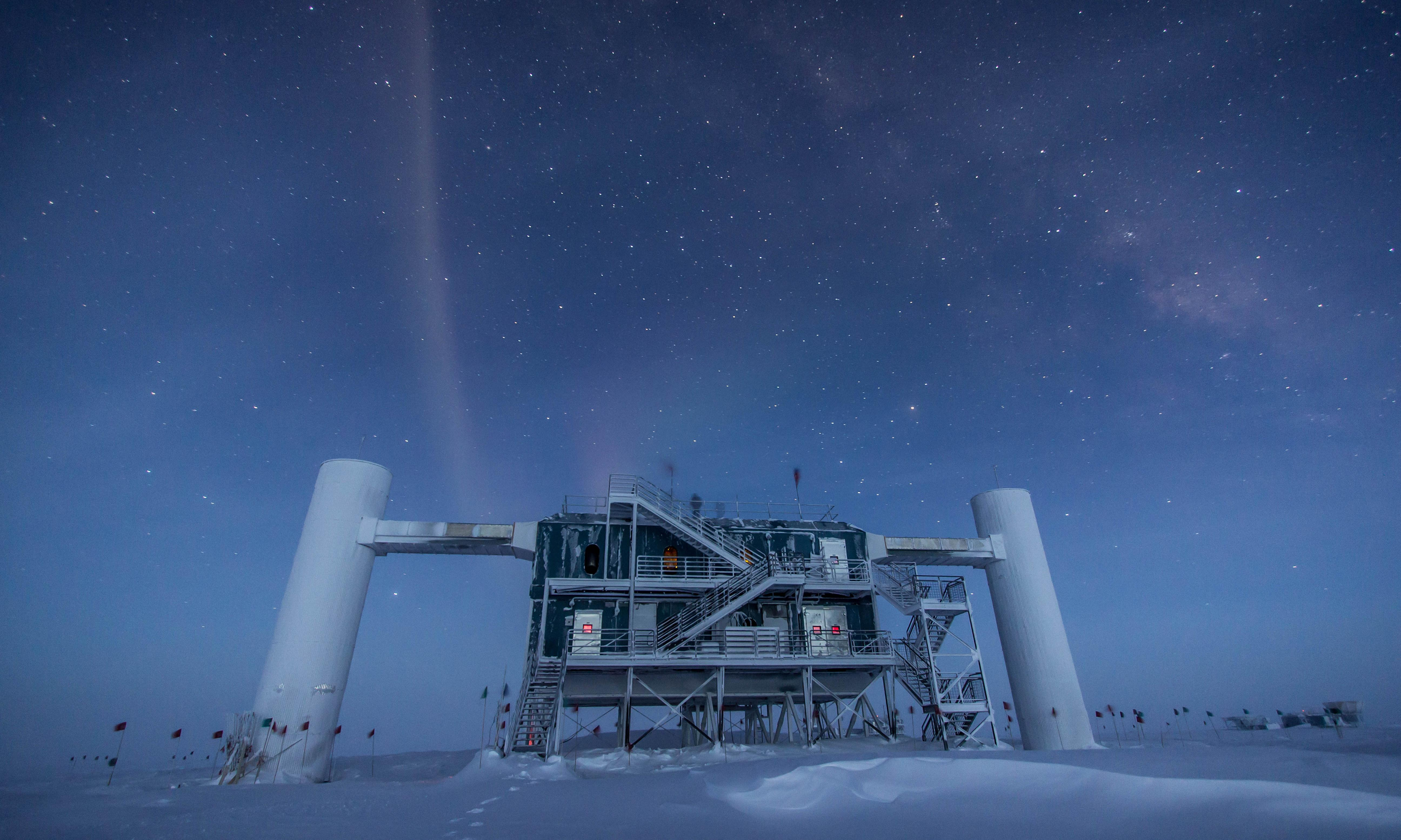 Neutrino that struck Antarctica traced to galaxy 3.7bn light years away