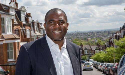David Lammy of the Labour Party out meeting voters on the 7th May 2015, North London.