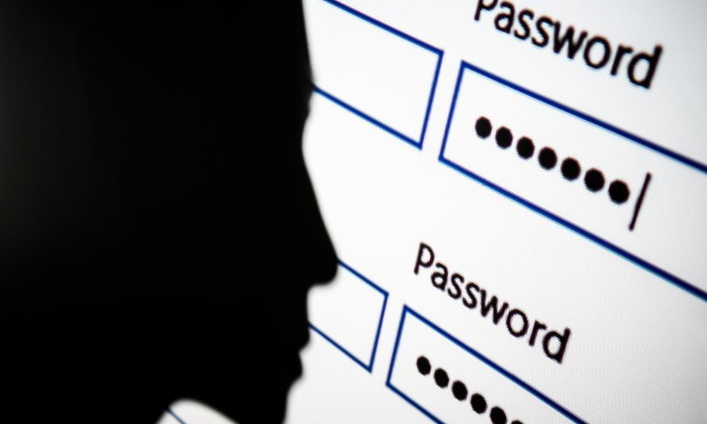 Password box on computer screen