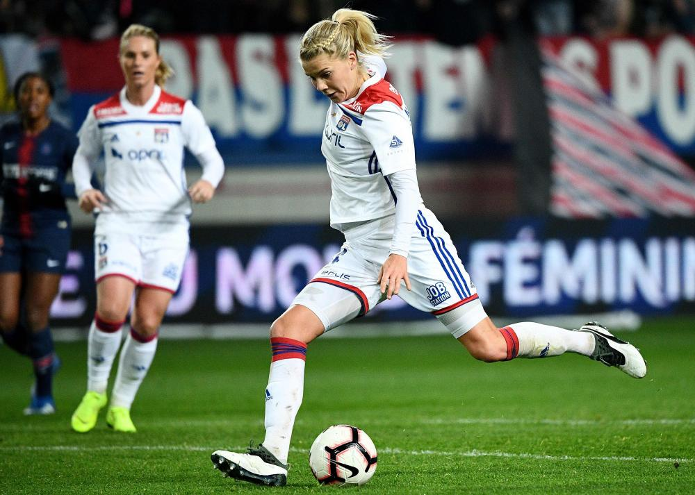 Ada Hegerberg in action for Lyon against PSG last month