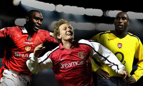 Andrew Cole, Ray Parlour and Sol Campbell