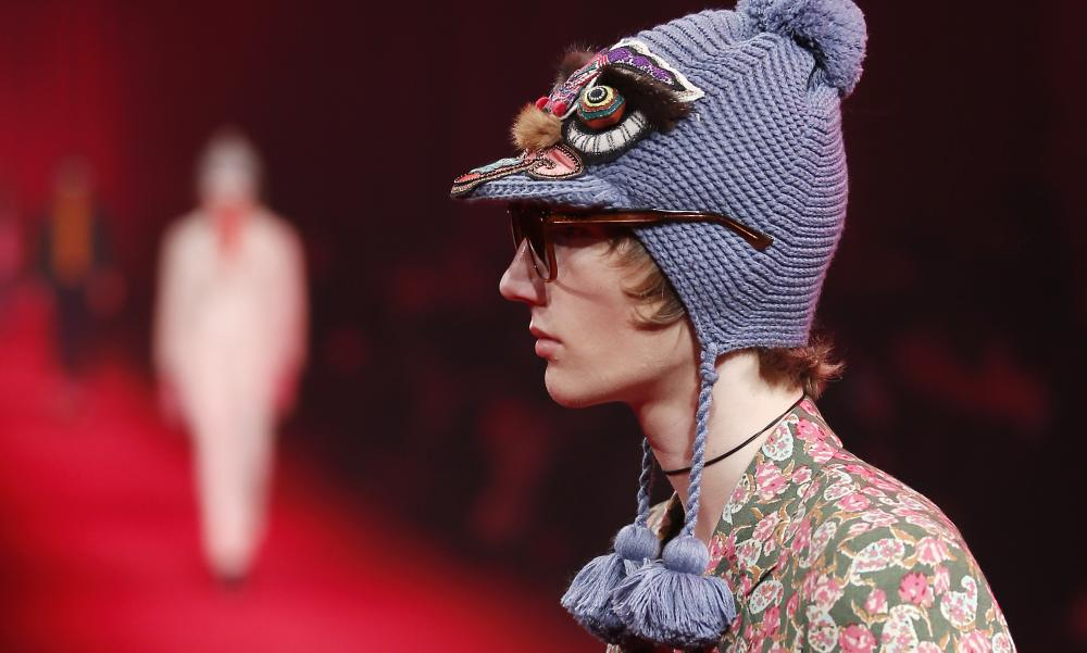 A 'playfully subversive' knitted hat