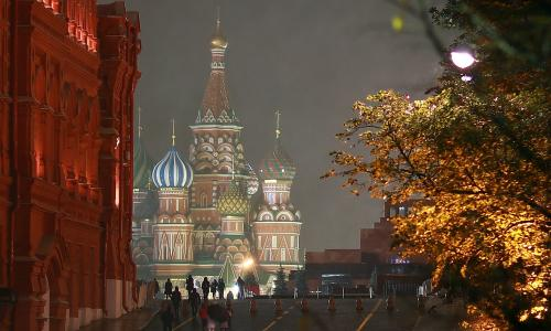 MOSCOW, RUSSIA - OCTOBER 31, 2017: A view of St Basil's Cathedral in Red Square. Vladimir Smirnov/TASS (Photo by Vladimir Smirnov\TASS via Getty Images)