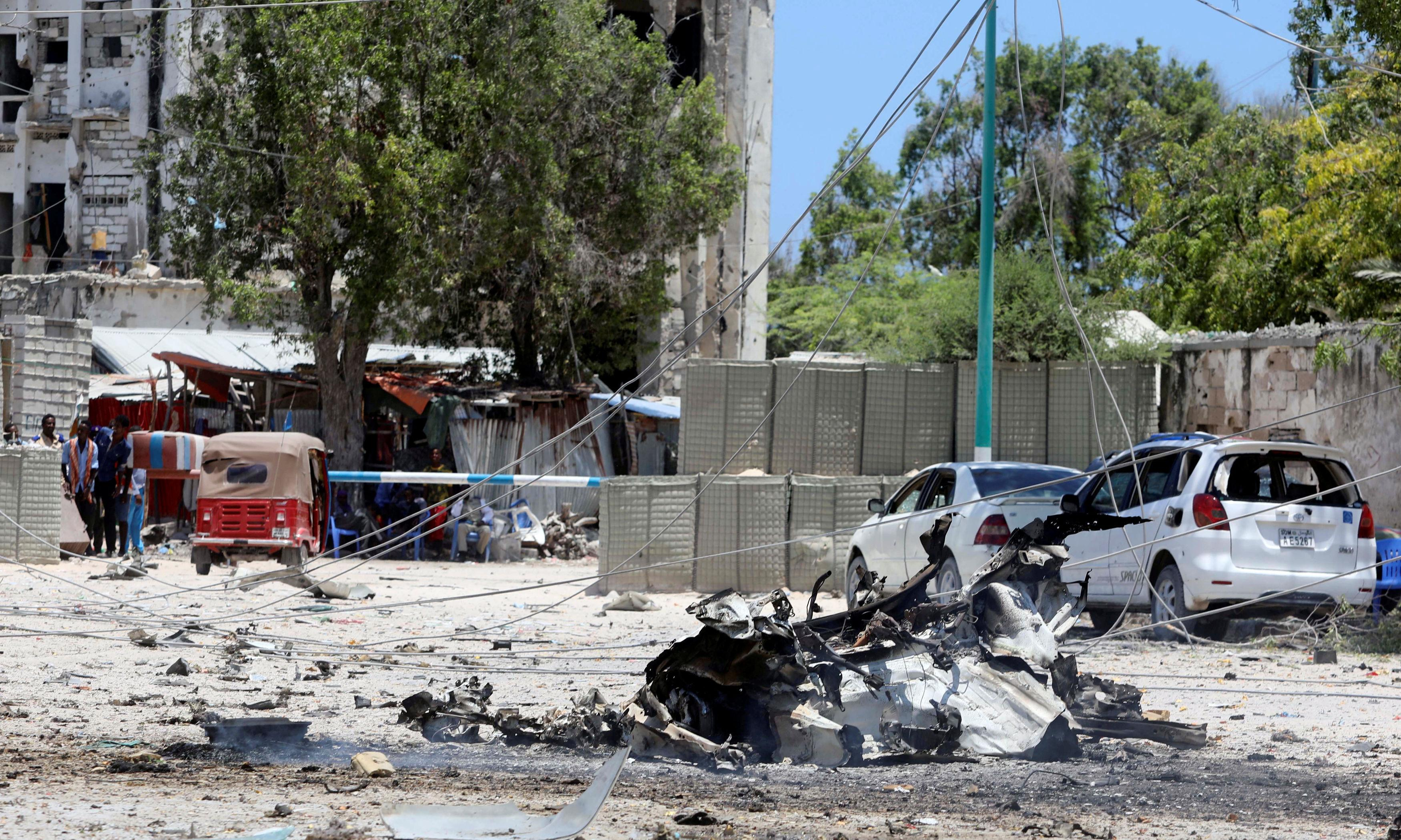 Five killed in Islamist attack on government building in Somalia