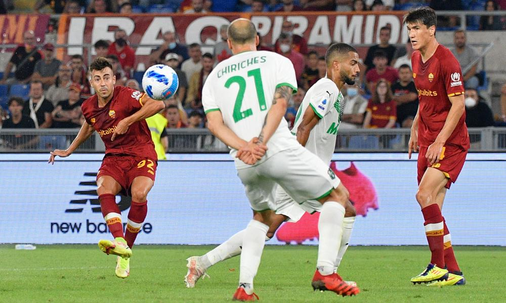 Stephan El Shaarawy scores in stoppage time to earn Roma victory against Sassuolo in a topsy-turvy match.