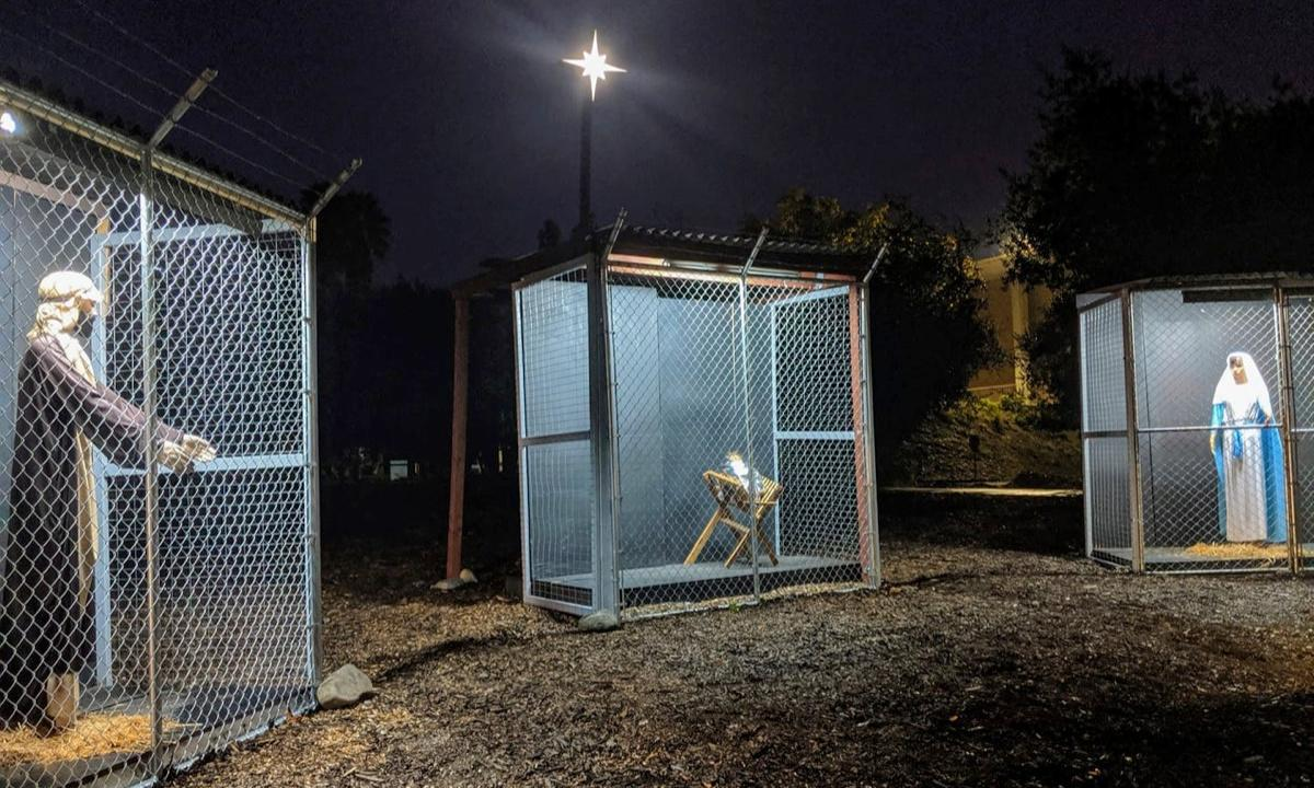 California nativity scene displaying Jesus in a cage causes stir