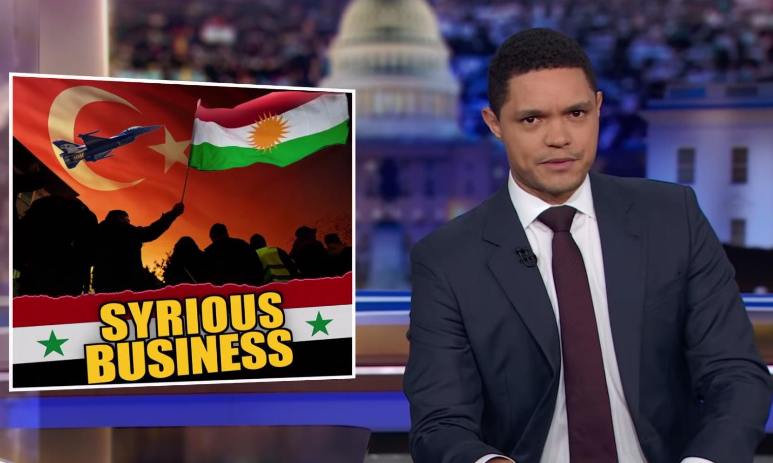 Trevor Noah: 'Not helping in a war is one area President Bone Spurs has experience with'