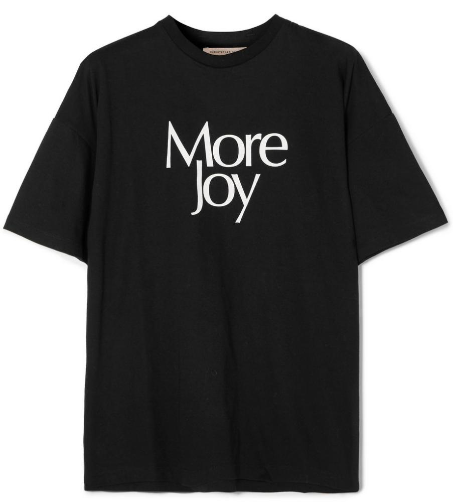 More Joy T-shirt, £175, by Christopher Kane.