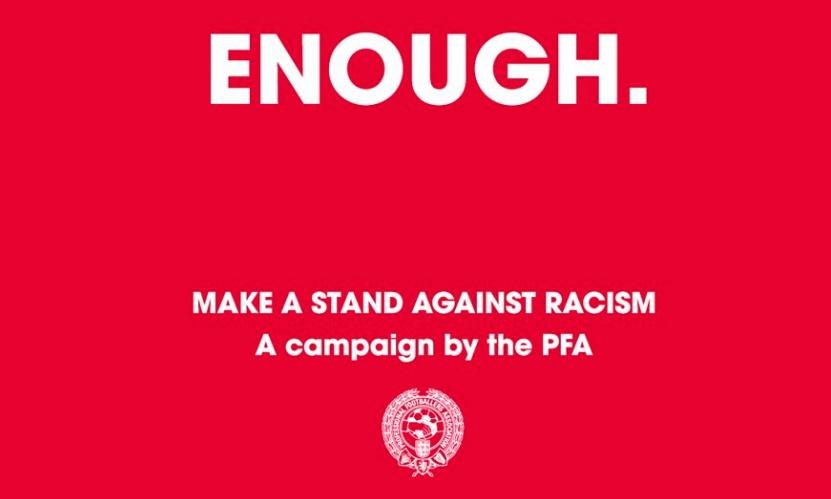 Footballers supporting Enough campaign subjected to racist abuse