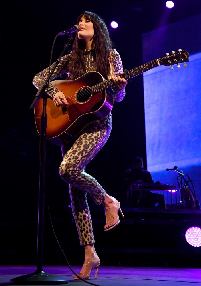 Country singer Kacey Musgraves performing at the Intersect music festival in Las Vegas in 2019.