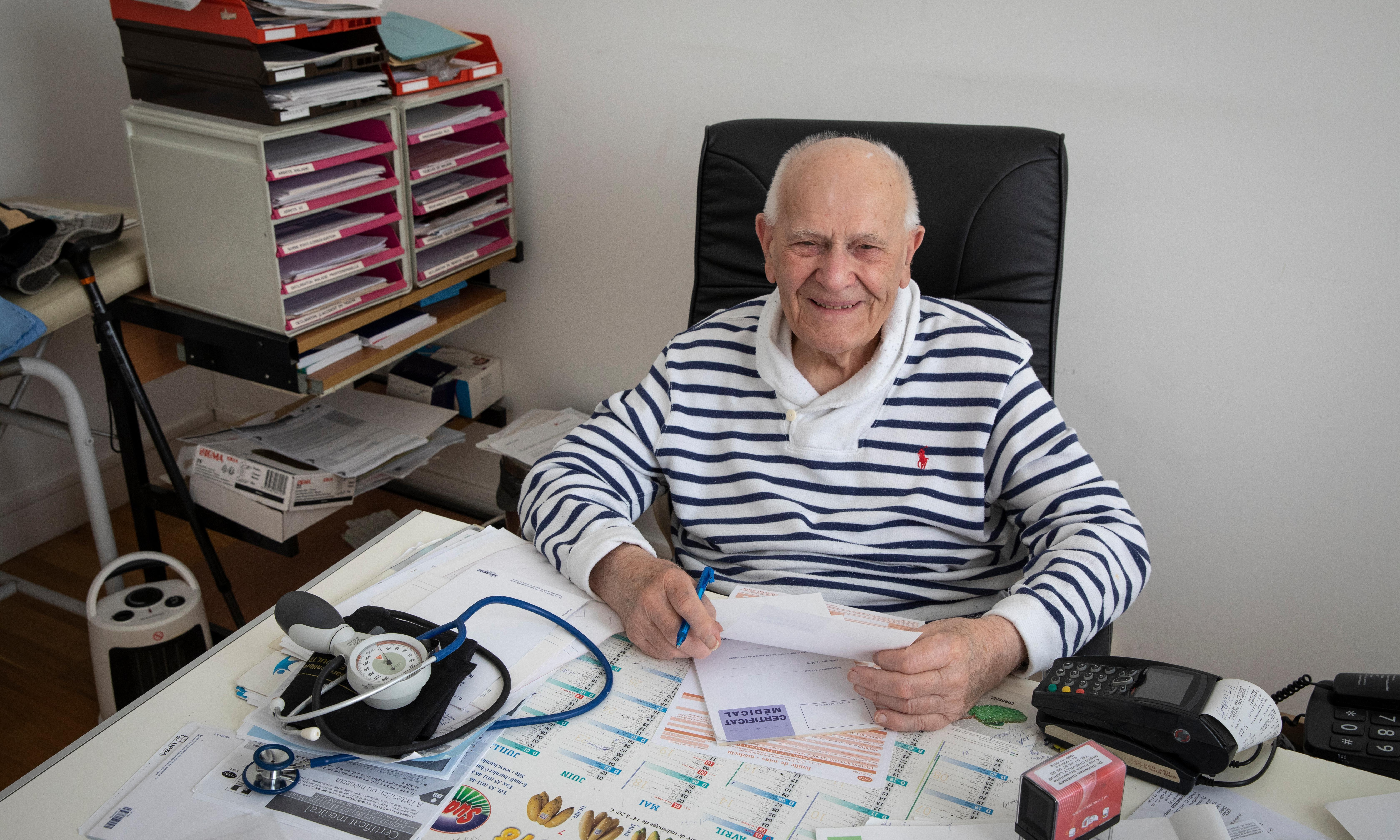 'What keeps me going? My patients,' says France's oldest doctor at 98