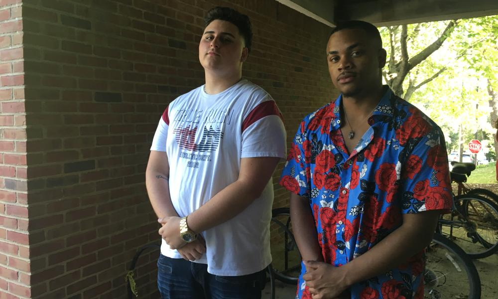 Fernando Garay, 19, left, and Malcolm Wills, 20, right. Both said they were shocked to see people they knew defend white supremacy online.