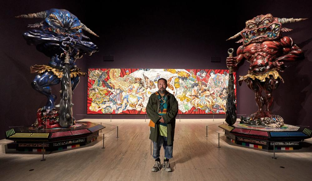 Takashi Murakami in the exhibition Japan supernatural at the Art Gallery of New South Wales.