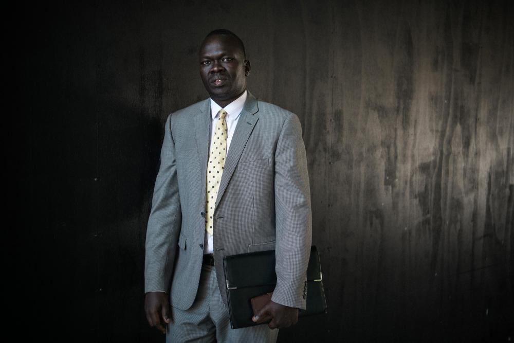 South Sudanese community leader Richard Deng, close to his office in Melbourne's CBD