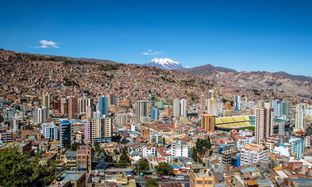 La Paz is at 3,640 metres above sea level.