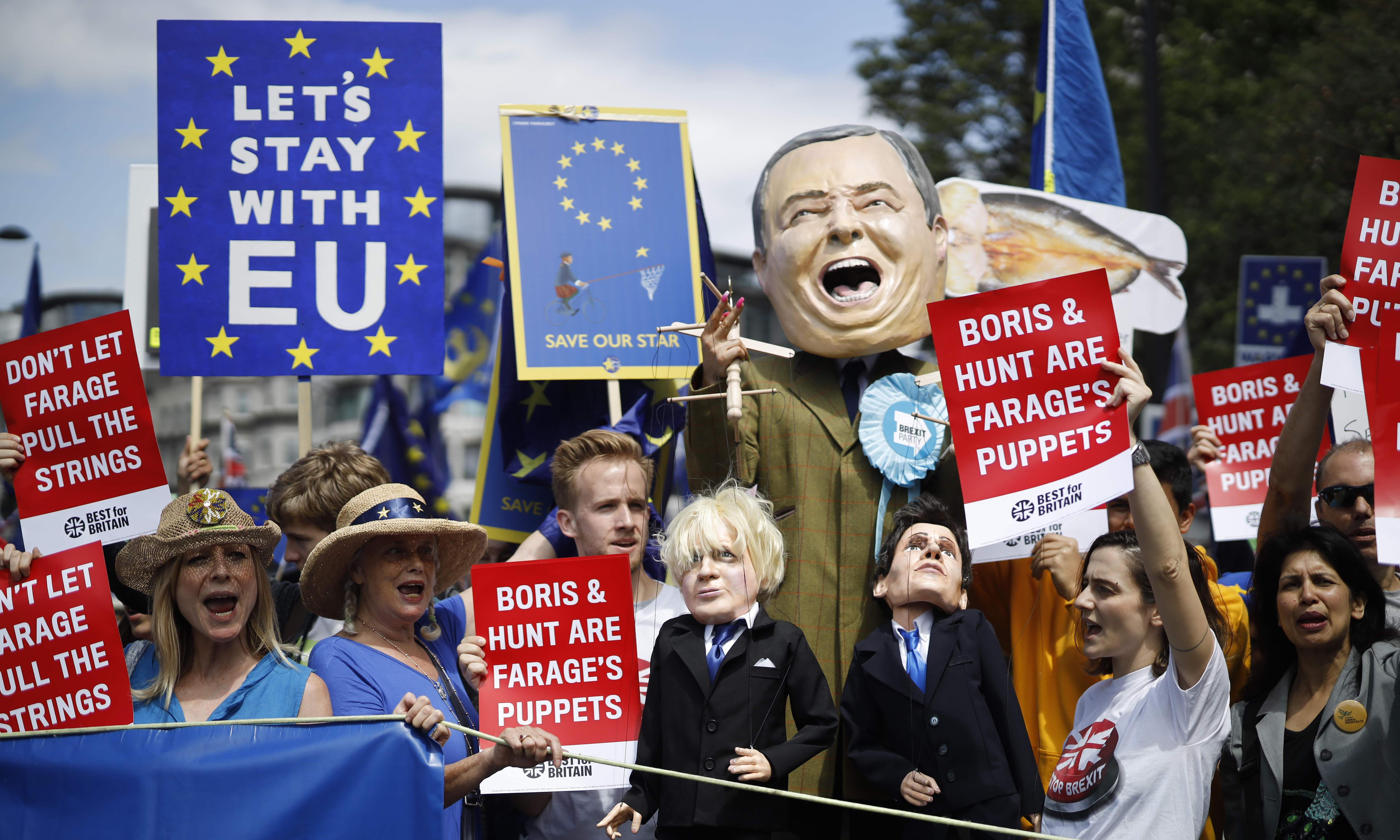 March for Change: anti-Brexit protesters take to London streets