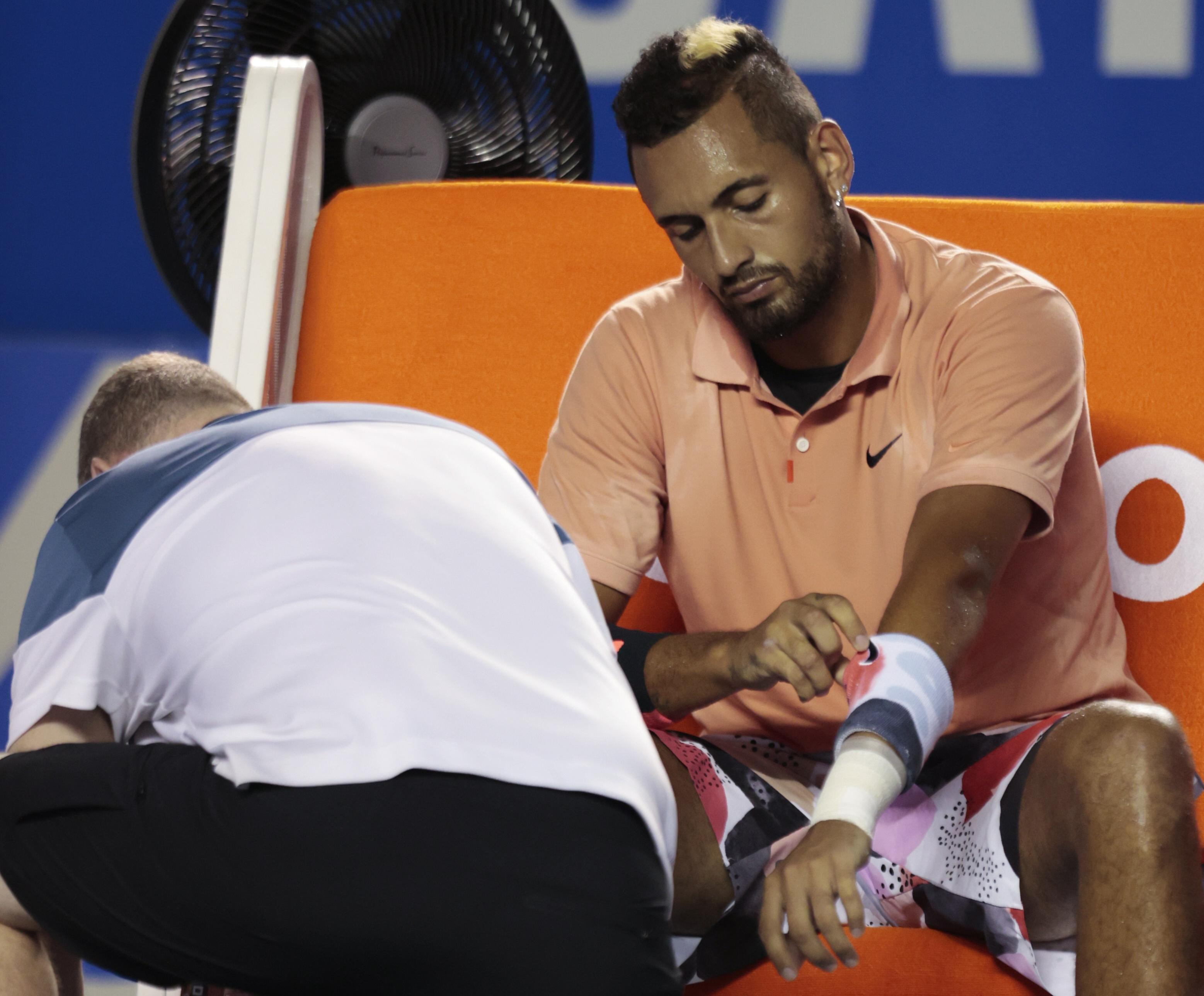 Nick Kyrgios hits out at booing Mexican Open crowd after retiring hurt