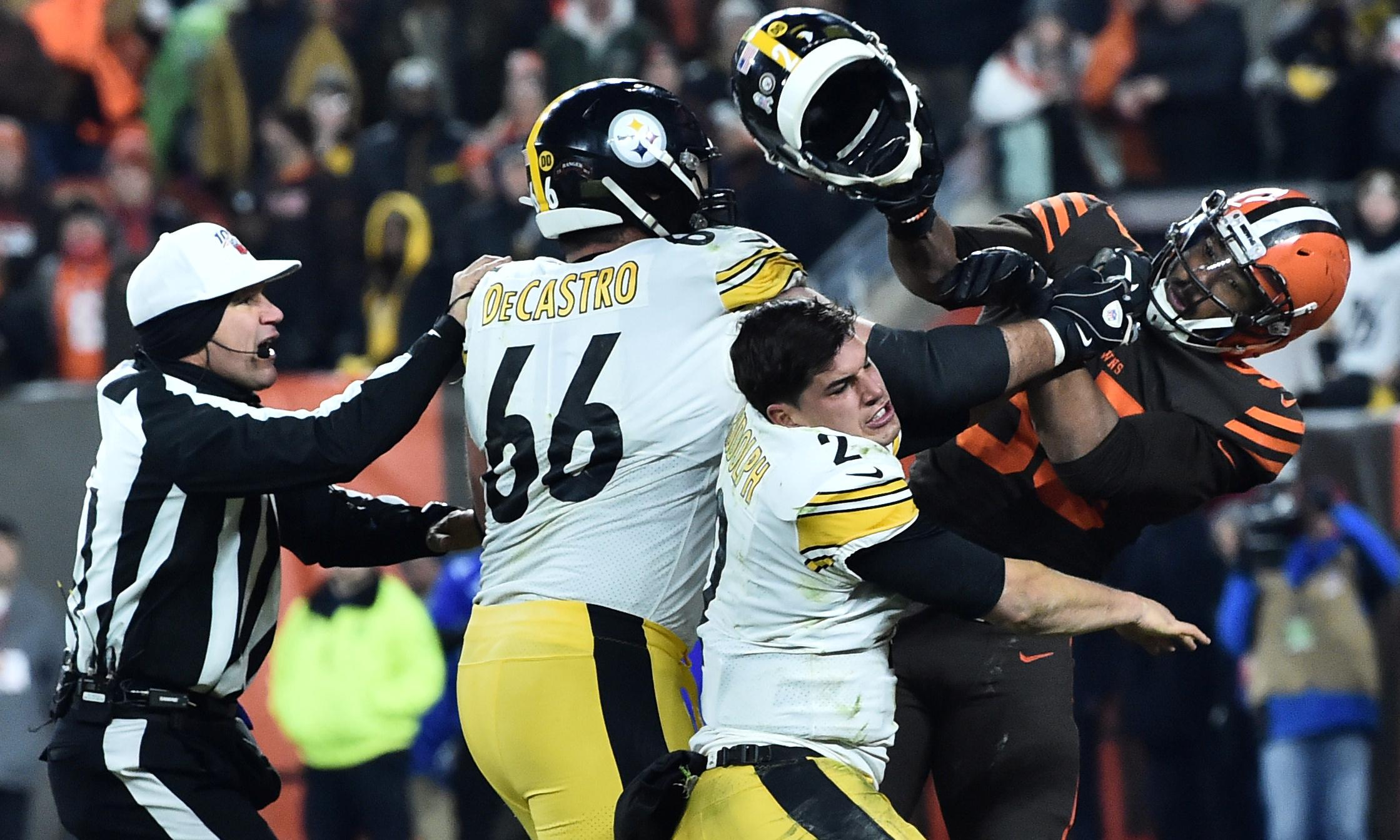Mason Rudolph says he has no excuse for role in Browns-Steelers brawl