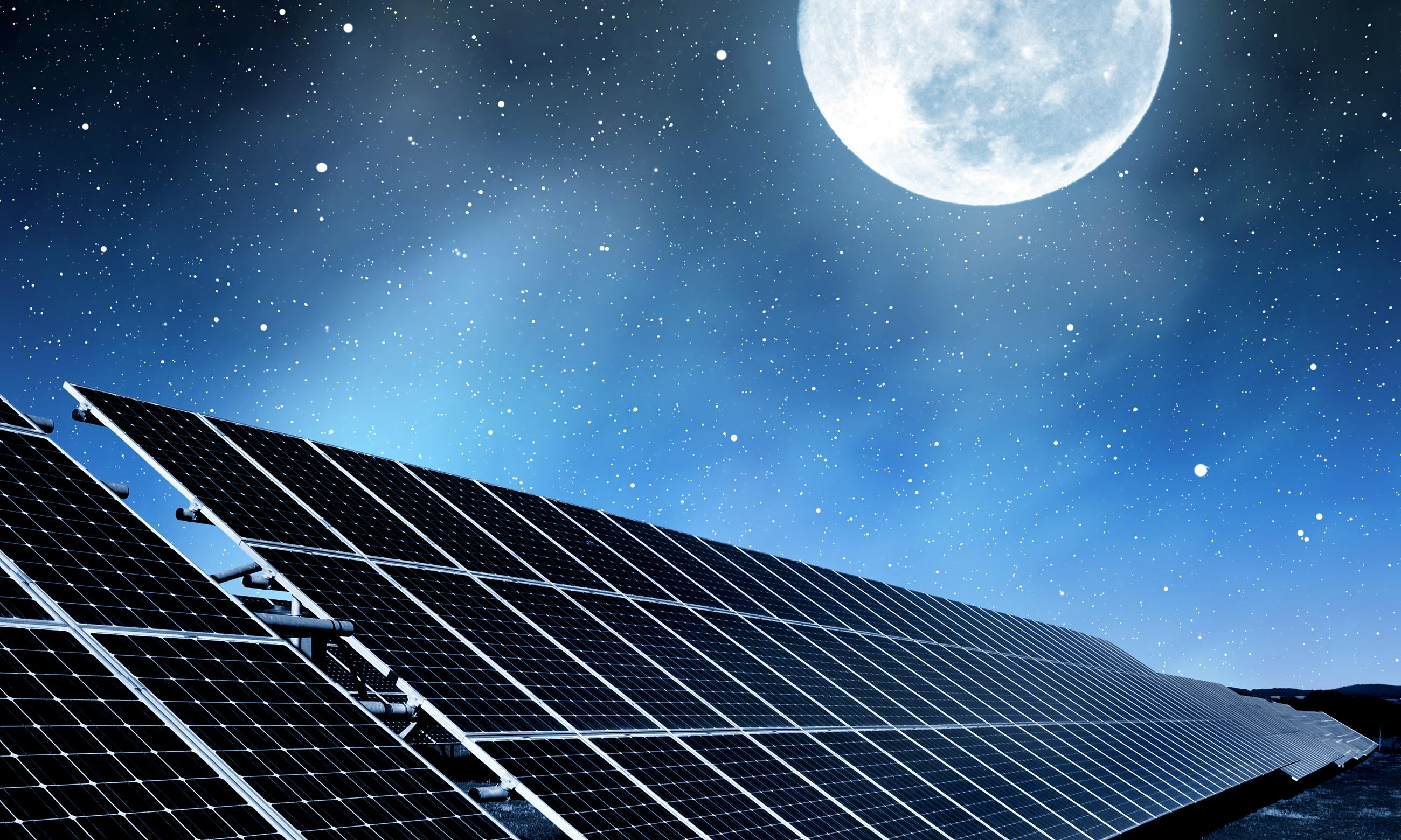 Solar farms can keep UK's lights on even at night