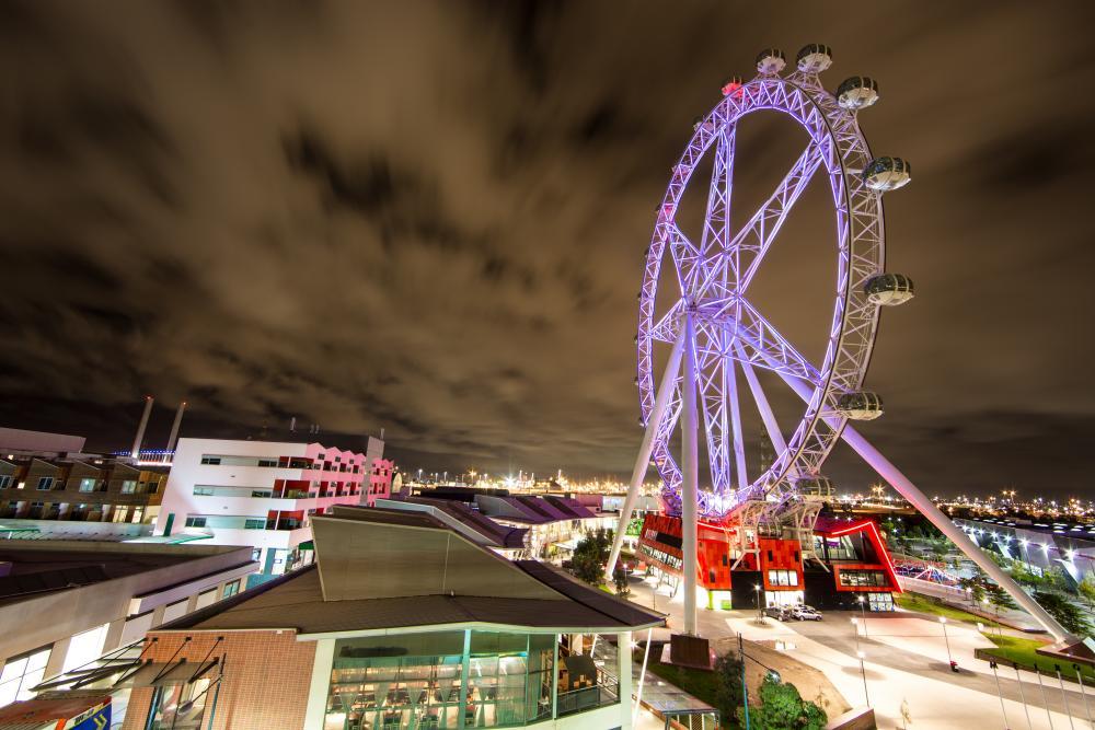The Melbourne Star Observation Wheel in Melbourne.