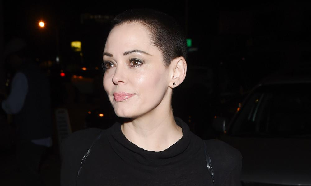 Rose McGowan in Los Angeles in 2017. The actor is one of many women in Hollywood accusing the producer of sexual harassment.