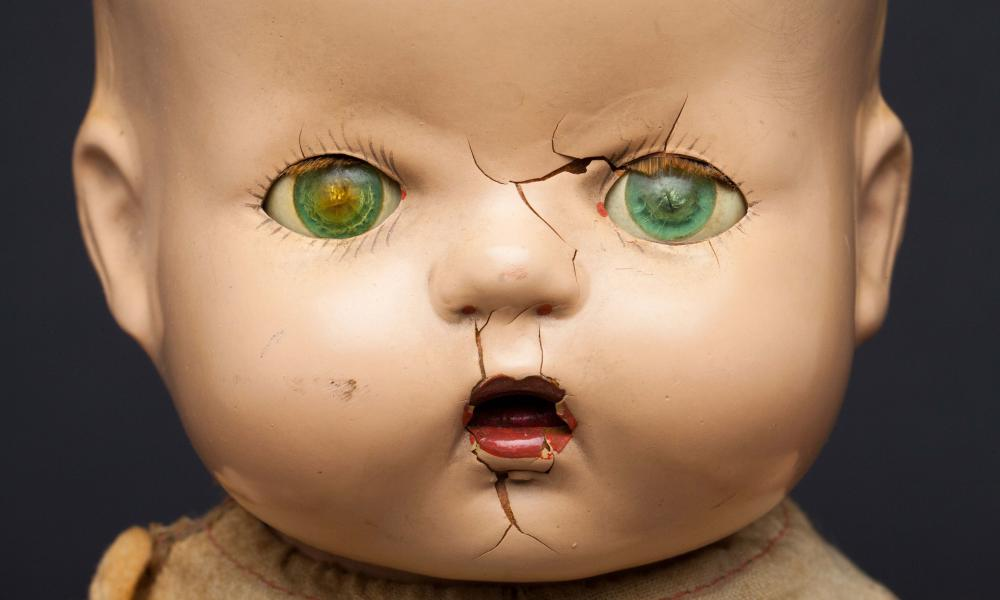 A scary-looking vintage infant doll