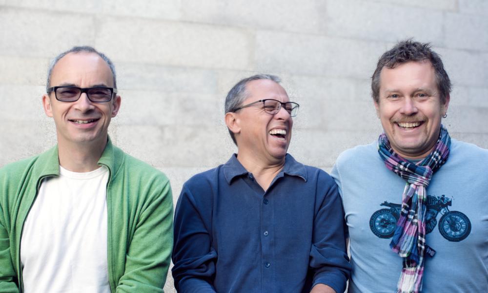 The tunes are terrific … Mário Laginha, Julian Argüelles and Helge Andreas Norbakken.