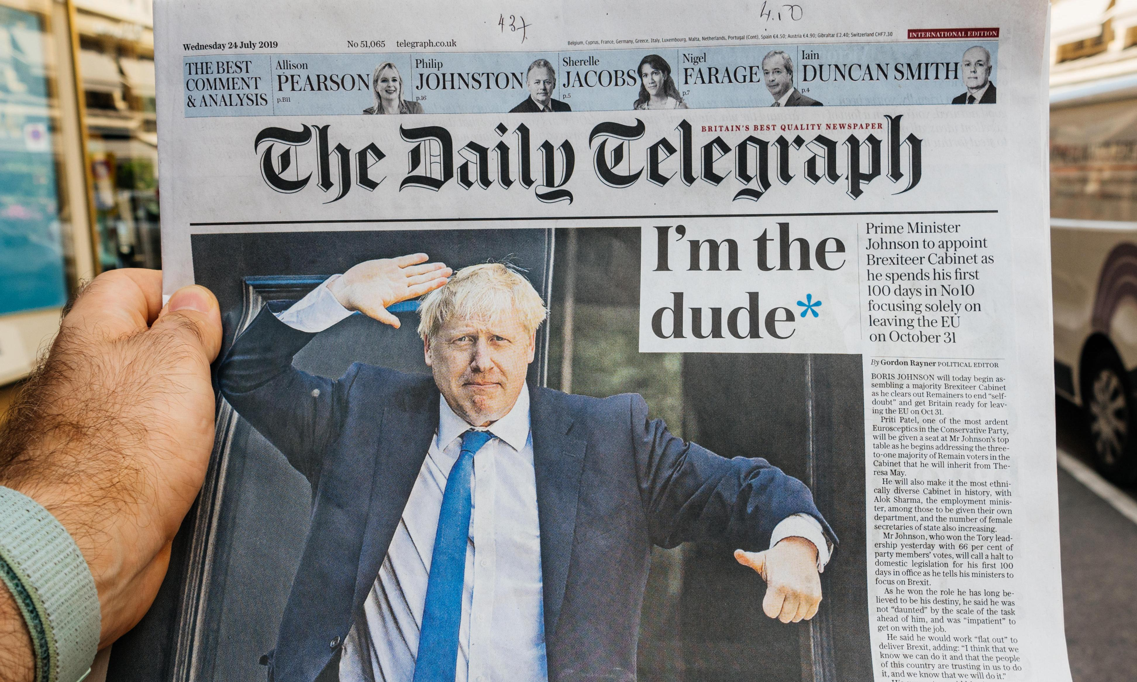 Like the Tories, the Telegraph has turned radical